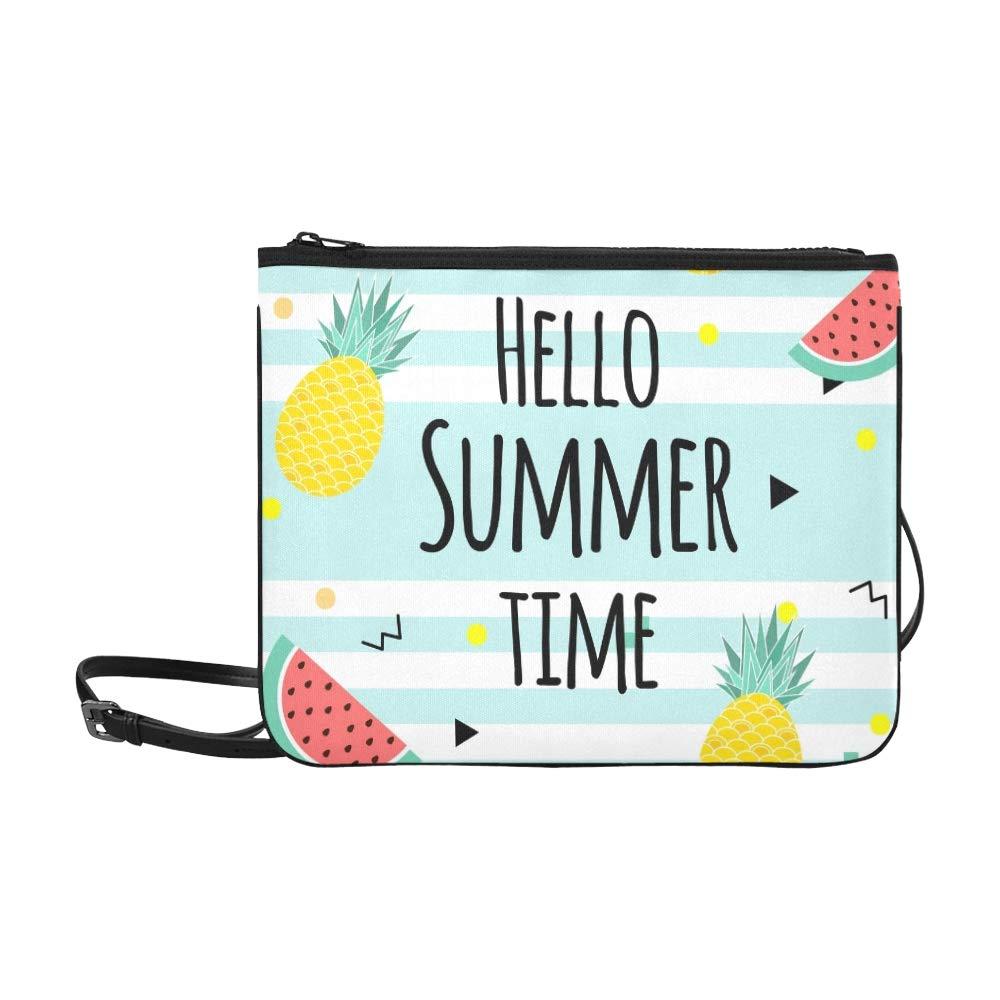 Hola, horario de verano, cartel de frutas ...