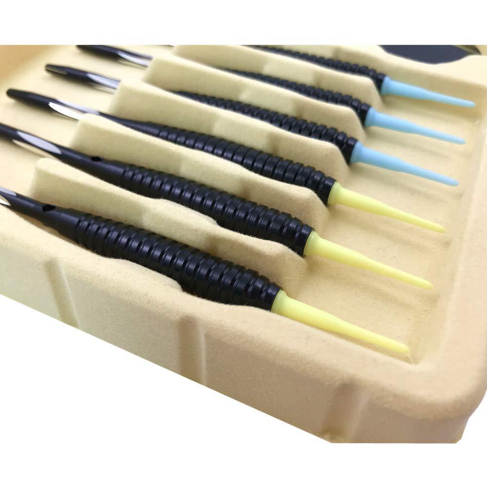 Set di 6 Freccette Professionali Punta Plastica Freccette Soft per Bersaglio Elettronico HANGZHUANG Freccette