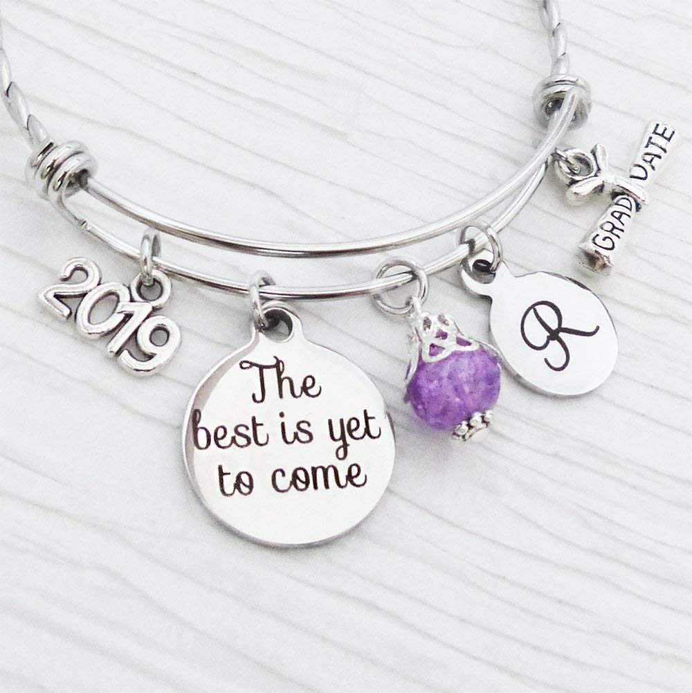 Best Graduation Gifts 2020 Amazon.com: 2019 Grad gifts, The best is yet to come  Bangle