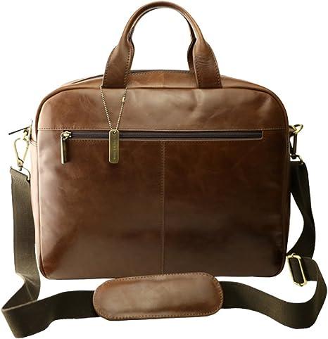 Marc Picard Elegant Leather Laptop Bag 15.6 Inches Modern