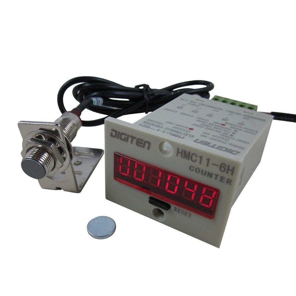 DIGITEN 12V-24V 6-Digit 0-999999 LED Display