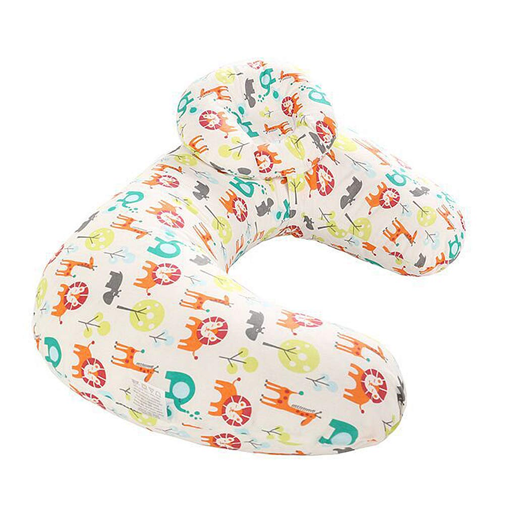 Dear Tomorrow Baby Breastfeeding Nursing Pillow and Positioner Machine Washable U Shape Nursing and Infant Support Pillow Bonus Head Positioner Color 4