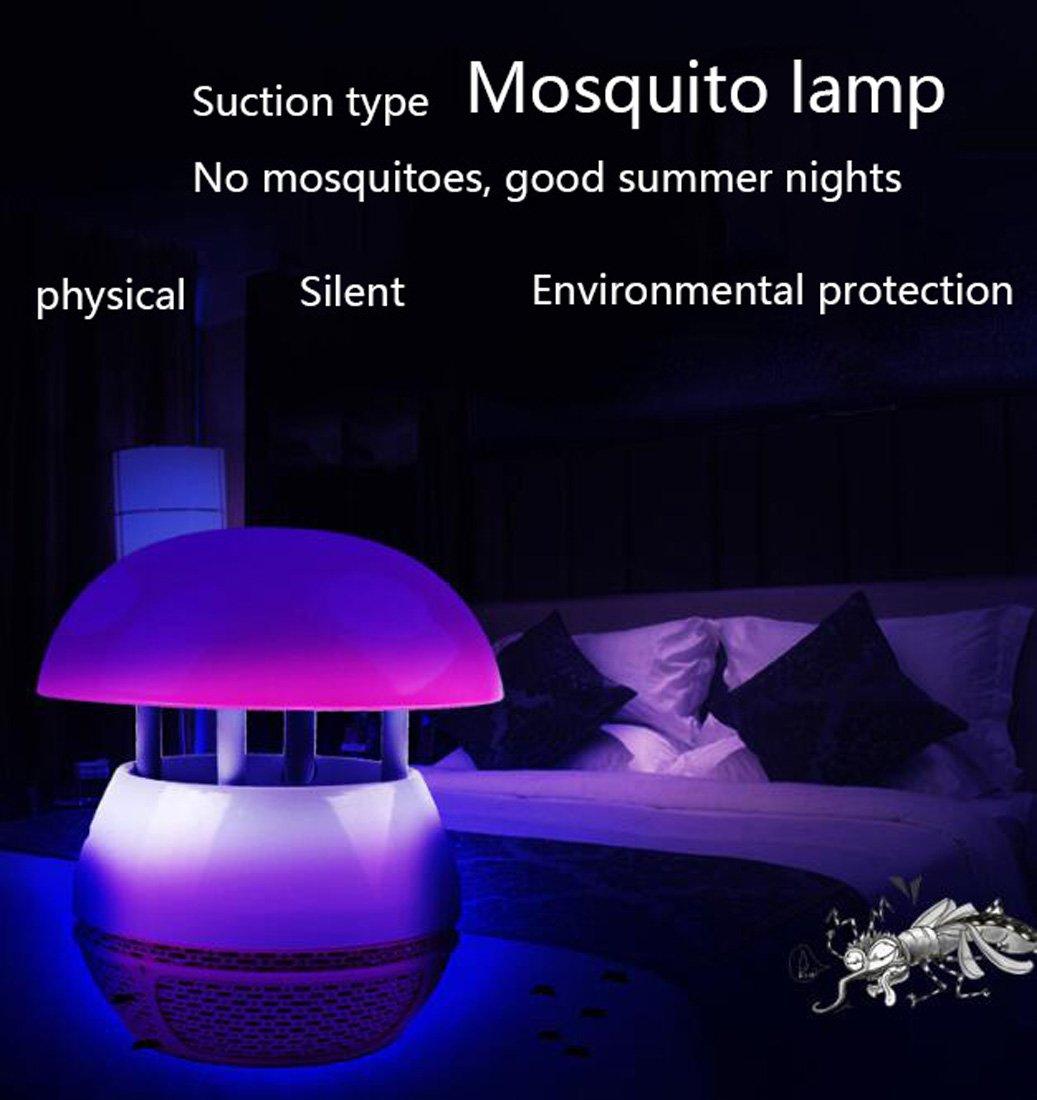 LED Seta Mosquito Killer Dormitorio Embarazo y protección del medio ambiente Moscas y moscas Fotocatalizador Hogar USB físico no tóxico Mosquito asesino UV ...