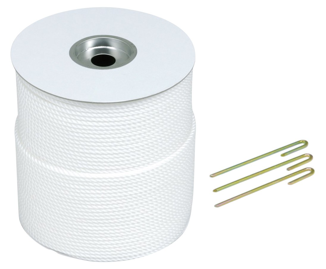 TOEI LIGHT(トーエイライト) グランドロープ6×300(5) グランド整備 ロープ:白6mm×300m ポリエチレン 杭5mm×18cm G1584   B00VWJQX1S