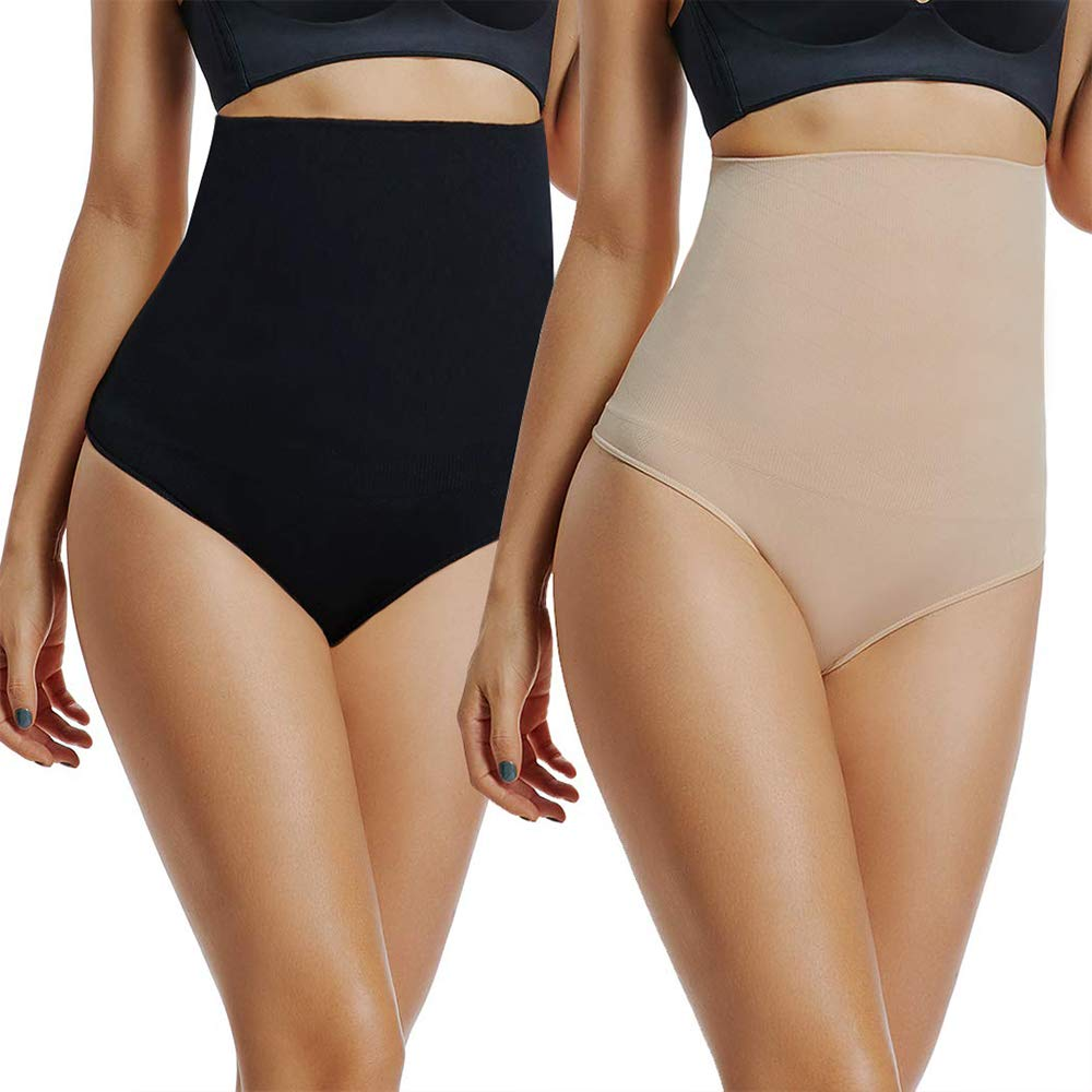 2 PCS Guaina Intimo da Donna Mutanda Contenitiva Donna, Contenitiva a Vita Alta Shapewear Dimagrante Modellante Fascia Modellante Donna Slim Pants Panciera Snellente Panciera Donna Contenitiva