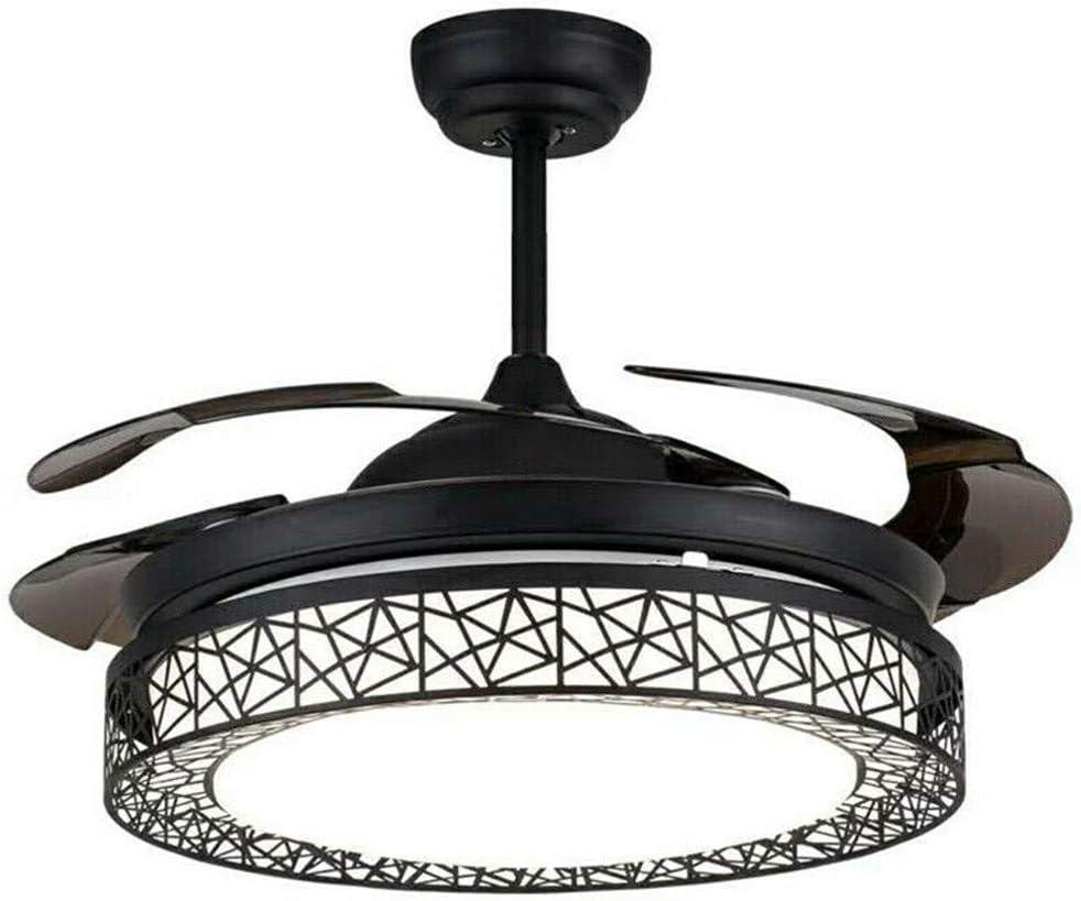 WUPYI2018 - Ventilador de techo moderno con iluminación Breeze, 3 velocidades, lámpara de techo