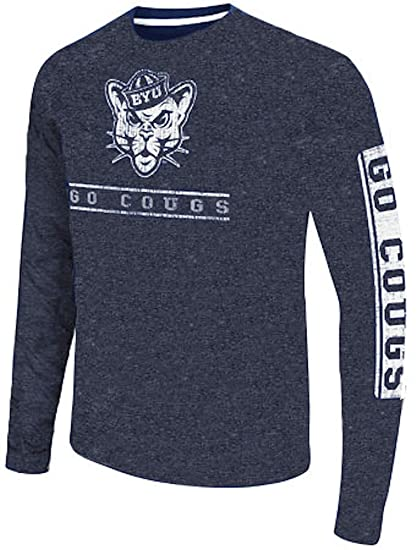 e3cfe7de Amazon.com : BYU Cougars Men's Blue Sky Box College Long Sleeve T ...