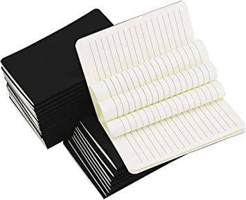 Pack of 20 Plain Ruled Lined Blank Notepad Diary Journal Notebook …