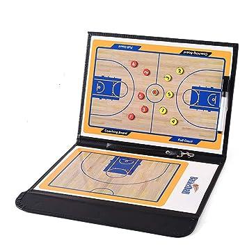 95street Carpeta Táctica para Entrenamiento de Baloncesto Pizarra Táctica Coach Board con imanes lápices Goma de borrar (Tamaño: 53cm x 31cm): Amazon.es: ...