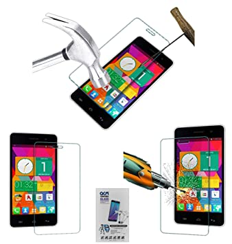 Acm Tempered Glass Screenguard Compatible with Micromax Unite 2 A106 Mobile Screen Guard Scratch Protector Screen guards