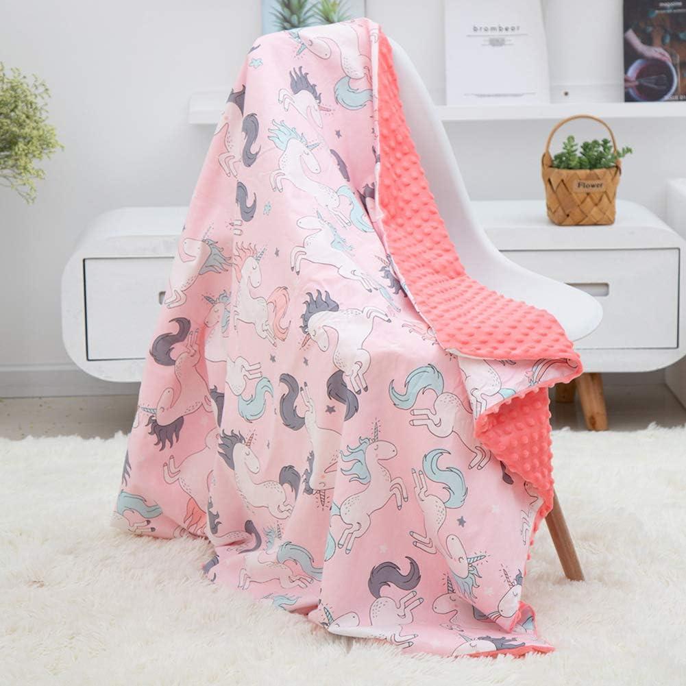 GX&XD Fuzzy Plush Algodón Orgánico Manta De Bebe,Lavable Suave Manta De Dibujos Animados para Niños Pequeños Respirable Confort Tirar De La Manta Edredón-b 80x100cm(31x39inch): Amazon.es: Hogar