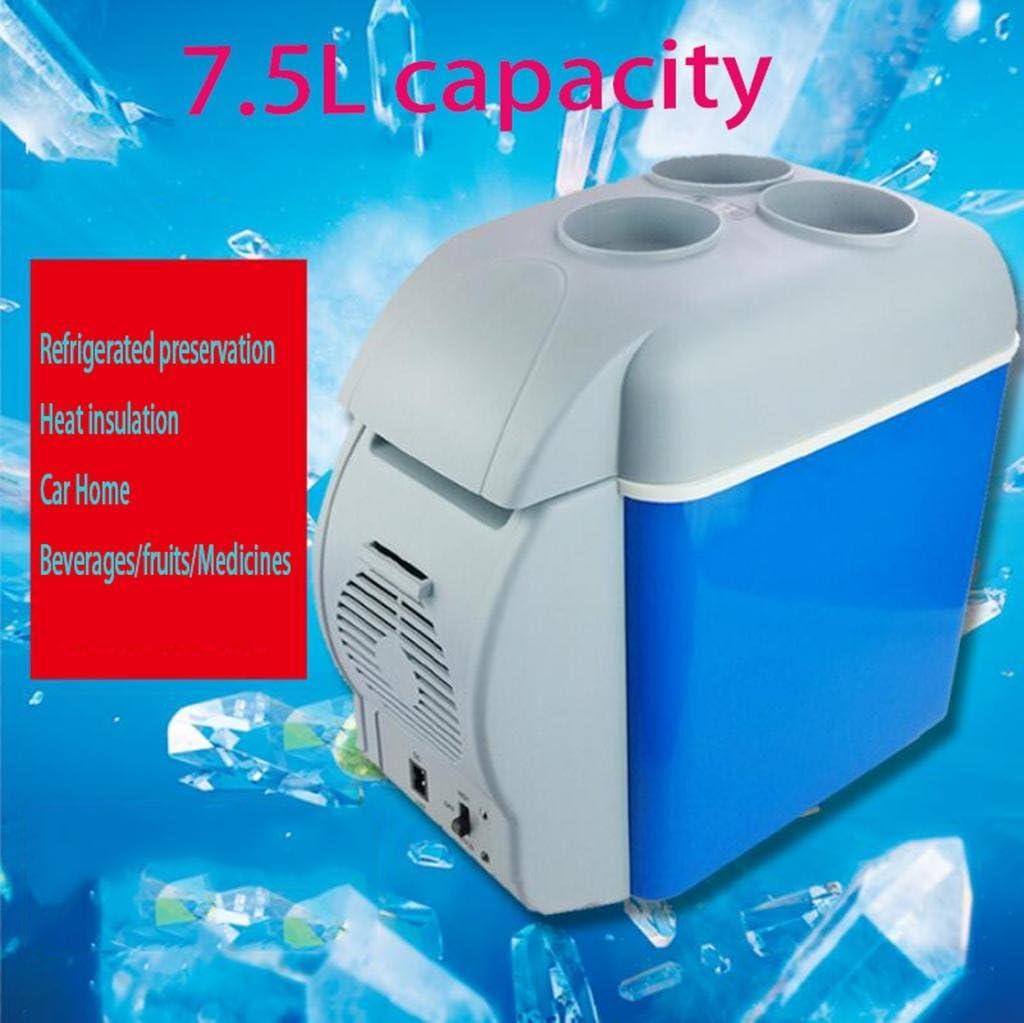 LonVe 7.5L Car Refrigerator,Small Fridge Mini Car Home Refrigeration Refrigerated Small Heating and Cooling Box 12V,17*30*32cm, Power 45W