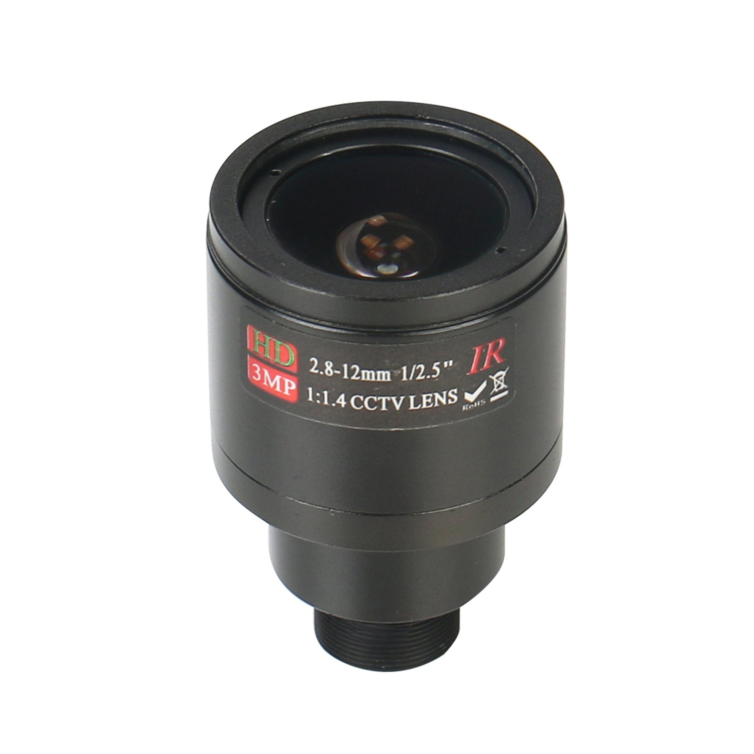 HonYan 2.8-12mm CCTV Lens M12 Mount 3.0MP 1/2.5'' F1.4 CCTV Video Vari-focal Zoom Lens for CCTV Security Camera by HonYan