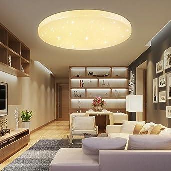 HG® 50W LED Deckenleuchte Deckenlampe Warmweiß Wandlampe Rund  Deckenbeleuchtung Wohnraum Sternen Wand Deckenleuchte Esszimmer