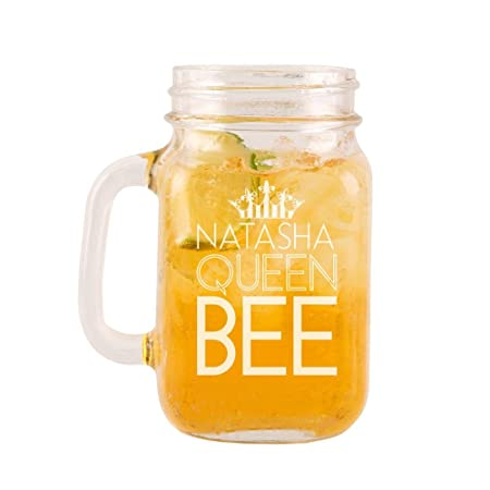 Personalised Engraved Queen Bee Glass Mason Jar Quirky Teenage Birthday Gifts Gift Ideas For Her Amazoncouk Kitchen Home