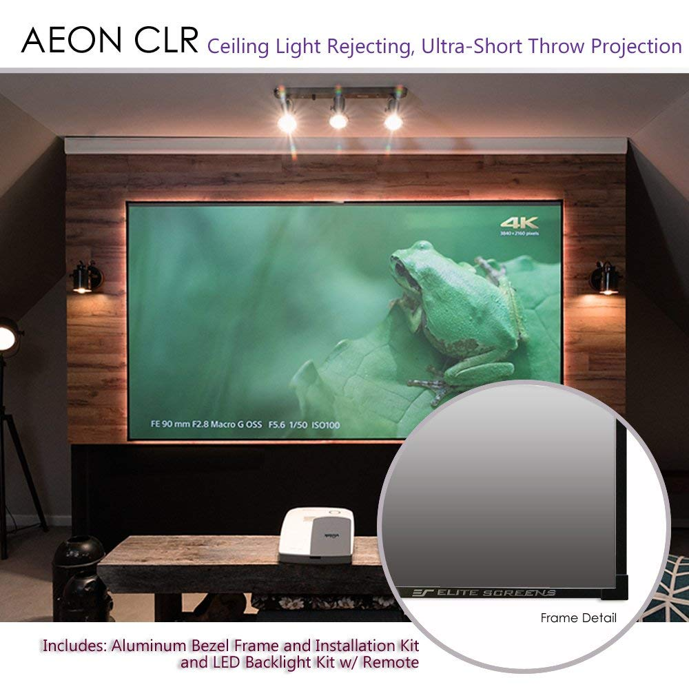 16:9 Format 100 Pouces Elite Screens /écran Cadre pour projecteurs /à focale Ultra-Courte Aeon Edge Free CLR 222 x 125 cm AR100H2-CLR