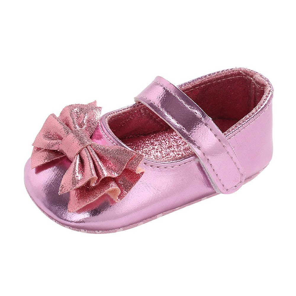 Baby Infant Kids Girl Bow Leather Soft Sole Crib Toddler Newborn Shoes