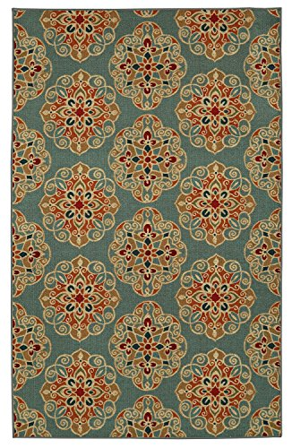 Mohawk Home Soho Kolam Blue Rug, 7'6x10'- Family Room Ideas - Make quick & easy changes to any room in your home in minutes by changing the rug - add color & patterns