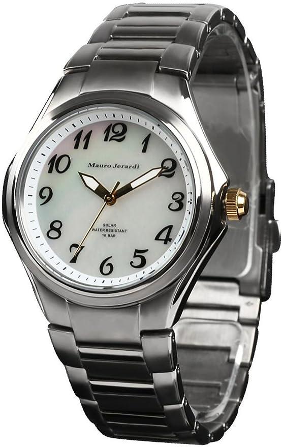 [マウロジェラルディ] 腕時計 ソーラー チタン 10気圧防水 MJ039-4 シルバー