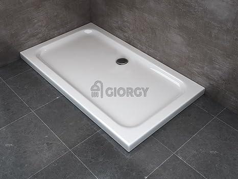 Piatto doccia abs h cm slim flat box cabina doccia bagno