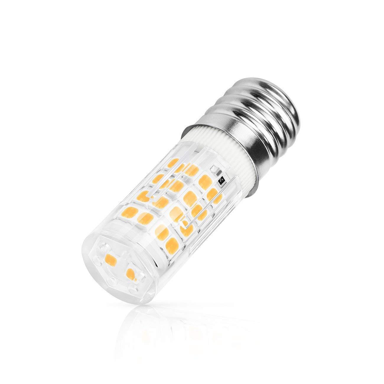 SHINE HAI E17 LED Bulb Microwave Oven Light, 470 Lumens, Warm White 2700K, 5W (50W Halogen Equivalent), 50x2835 SMD AC110-130V, Pack of 2