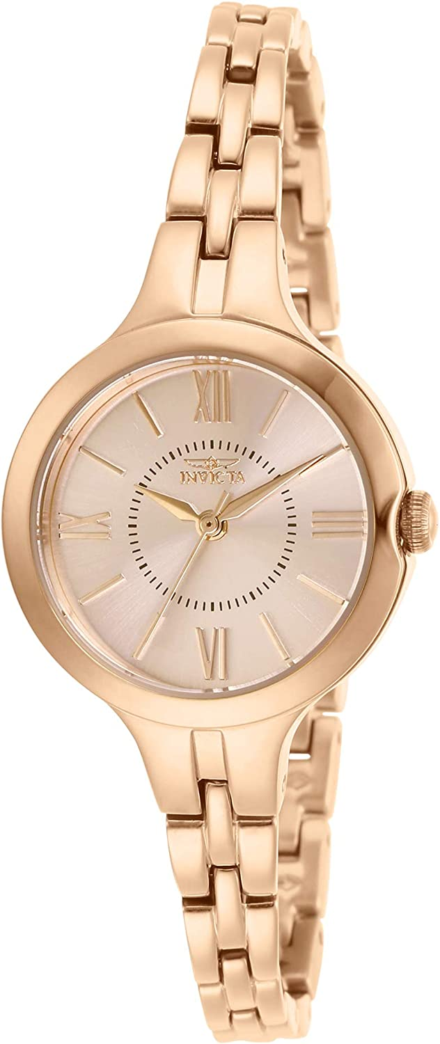 Invicta Women's Angel Quartz Watch with Stainless Steel Strap, Rose Gold, 8 (Model: 29343)