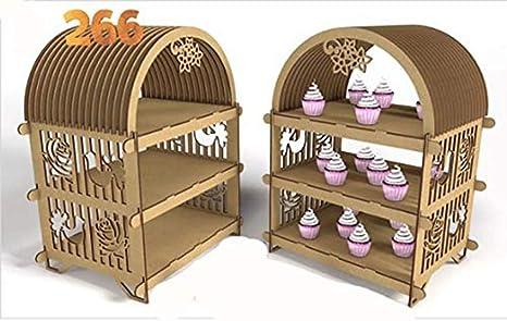 Realizzare Scaffale In Legno.Kit Per Realizzare Scaffale Porta Cupcake Di Legno Mdf Per Candy Bar
