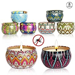 XYUT Citronella Scented Candles Set 8 Na...