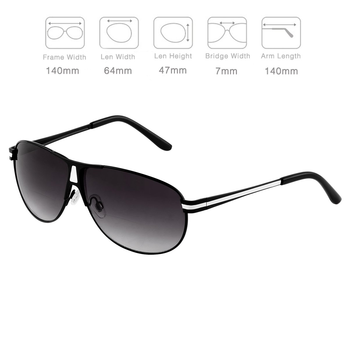 a76b1ac7afb Amazon.com  Bifocal Sunglasses Readers for Women Men Outdoor Reading Glasses  UV400 by O-LET (Black Frame Black Lens