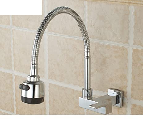 Wall-mounted single cold water faucet in the kitchen/Dish MOP basin ...