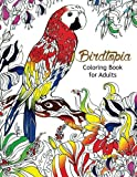 Bird Topia Coloring Book For Adults: Stress Relief Coloring Book For Grown-ups Paisly, Henna and Mandala Parrot, Budgerigar, Lovebird, Owl, Pigeons, Hummingbird Coloring Pages