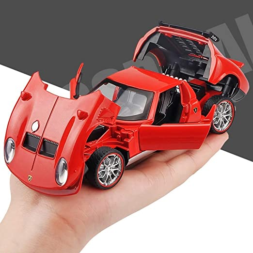 YaPin Model Car Simulación Rambo Gola Sports Car Alloy Car Modelo ...