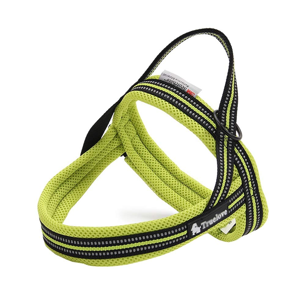 GREEN L(63-82cm) GREEN L(63-82cm) Dog Vest Harness, Soft Close-Fitting Chest Strap Breathable golden Hair Satsuma Reflective Outdoor Training Leash Collar Pet Supplies Adjustable Neck Chest Safety Buffer