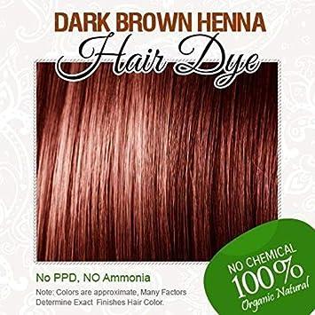 Amazon Com Henna Hair Color 100 Organic And Chemical Free Dark