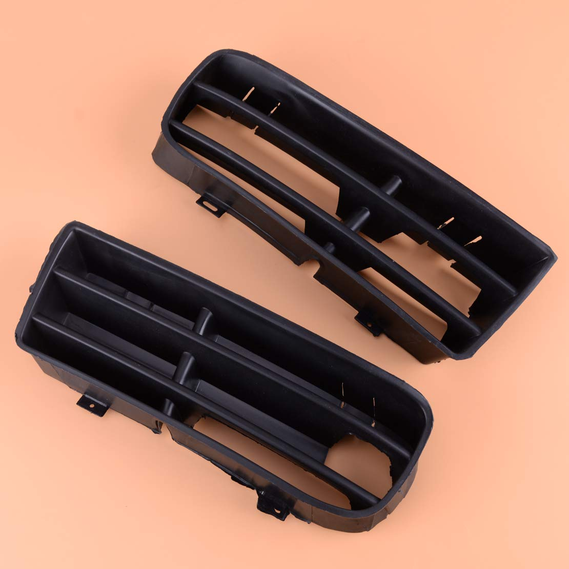 CITALL Paire de calandre de grille de pare-chocs noire avant gauche et droite 1J0853666 1J0853665