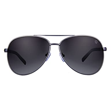 2d207c089441d Tom Martin Titanium Alloy Frame UV–400 Protected Sunglasses – Rockville –  Aviator – Matte Gun Metal (Smoke Black)  Amazon.in  Clothing   Accessories