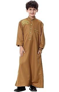 Khal Collection Kids White JUBBA JUBBAH Thobe Omani Muslim Arab Mens Dress Size 20 to 50