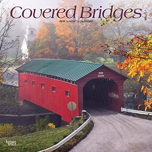 Covered Bridges 2019 12 x 12 Inch Monthly Square Wall Calendar, USA United States of America Scenic Rural Country (Multilingual Edition) ()