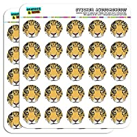 "Leopard Face Safari 1"" Planner Calendar Scrapbooking Crafting Stickers"