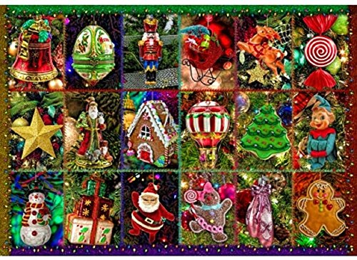 Wentworth Festive Ornaments Miniature 40 Piece Alison Lee Wooden Jigsaw Puzzle