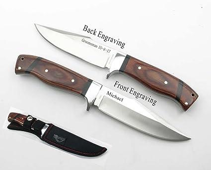 Amazon.com: Personalizado grabada con láser cuchillo de caza ...