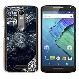 For Motorola Droid Turbo 2 / Moto X Force Case , Resumen Steve J Patrón- Diseño Patrón Teléfono Caso Cubierta Case Bumper Duro Protección Case Cover Funda