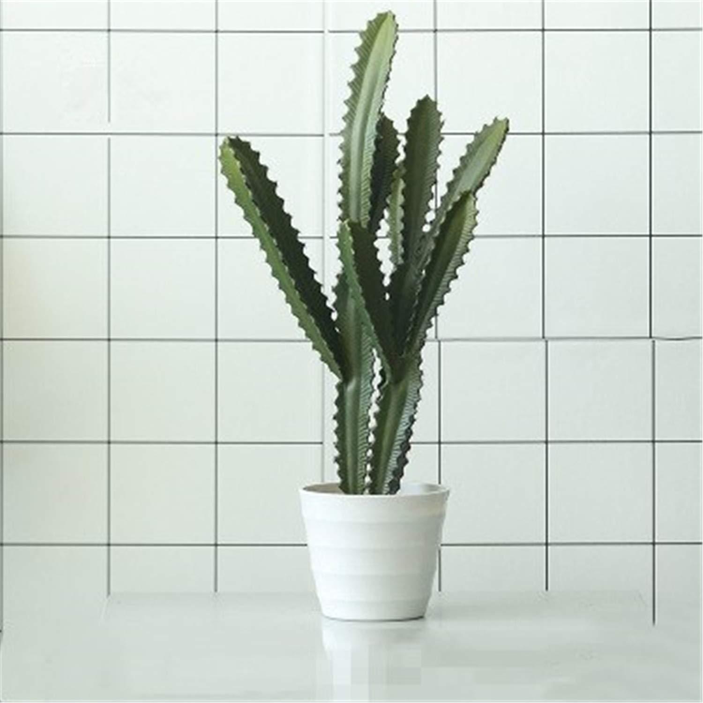 北欧シミュレーションサボテンの組み合わせ鉢植え植物、人工多肉盆栽、リビングルームのオフィス用装飾、撮影の小道具 c B07R1HZNPP c