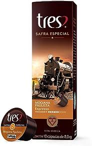 Cápsulas de Café Espresso Safra Especial Mogiana Paulista Três, Compatível com Três, Contém 10 Cápsulas