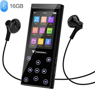 MP3 Player, 16GB MP3 Player with Bluetooth 4.2, Portable HiFi Lossless Sound MP3 Music Player with FM Radio Voice Recorder E-Book 2.4'' Screen, Expandable up to 128GB (Headphone, Armband Included)