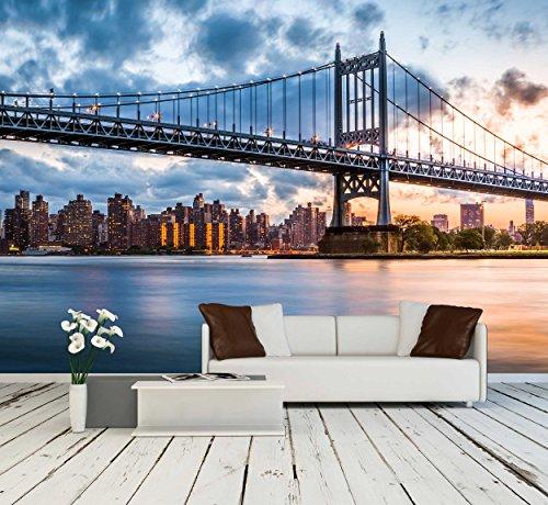 Robert F Kennedy Bridge Aka Triboro Bridge at Sunset in Queens New York