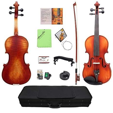 Violin Violín Con estuche rígido Sintonizador de arco ...