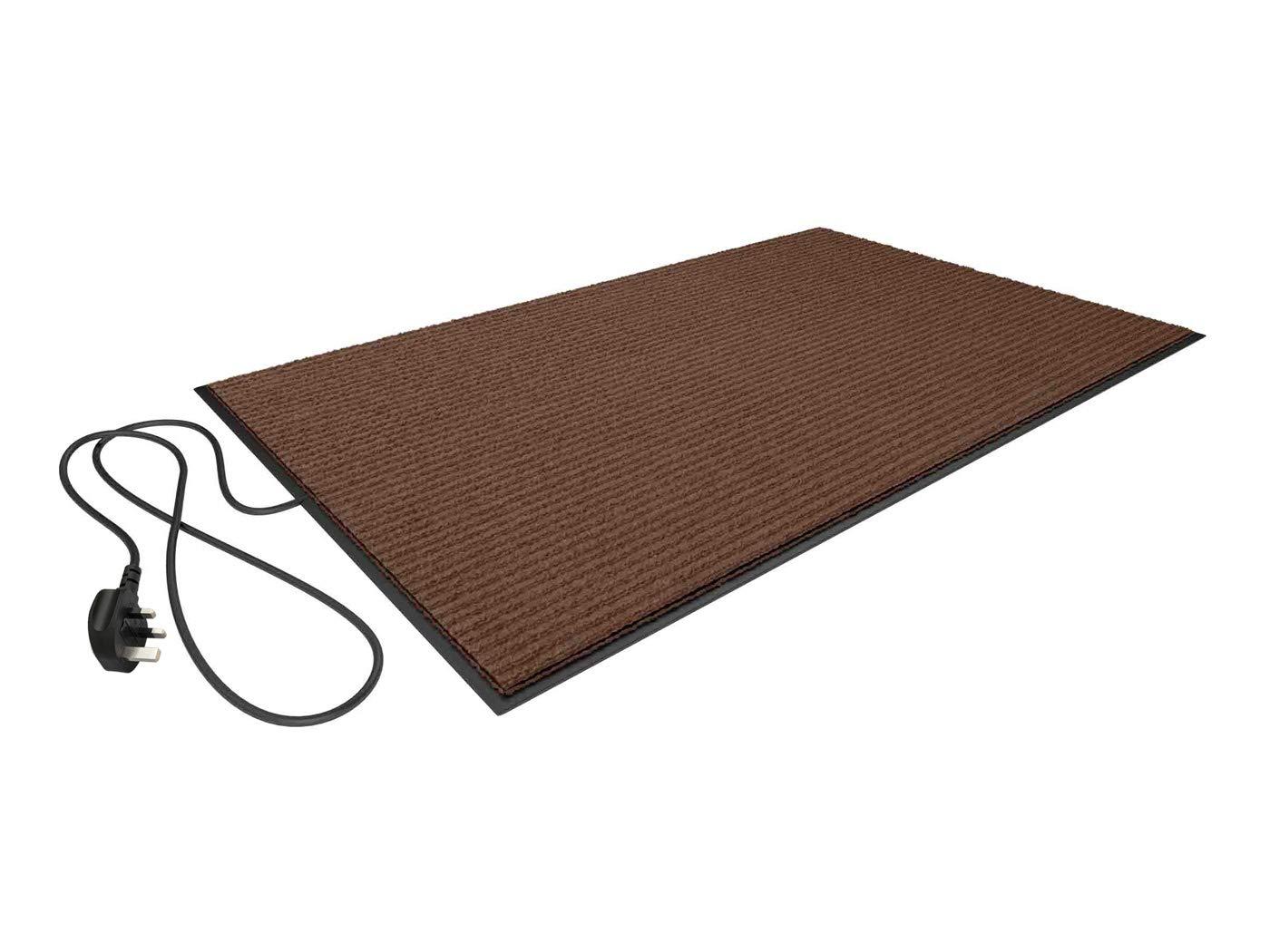 Elektrischer Heizteppich/Heizmatte / Schuhtrockner Plus 70 Watt 80X50 cm (Braun) Bodenheizung 24