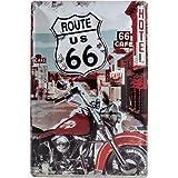 """Nostalgic-Art 22164 Plaque en métal """"Route 66"""" [en anglais] 20 x 30 cm"""