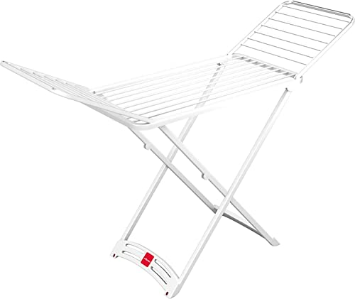 Vileda Solar - Tendedero X-Legs de Resina con alas Plegables, Espacio Total de tendido de 20 Metros, Dimensiones Abierto 125.5 x 9.5 x 55 cm, Color Blanco